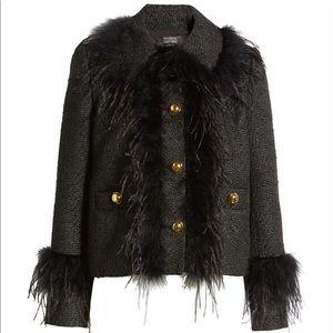 Halogen x Atlantic Pacific Tweed Feather Jacket